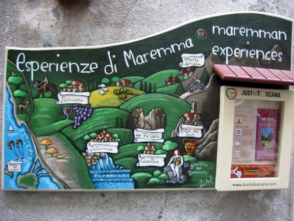 The map of Maremma area in Pitigliano - that cave is still waiting (which is actually a mine), and Scansano wine country too, as well as the mushrooms on Monte Amiata