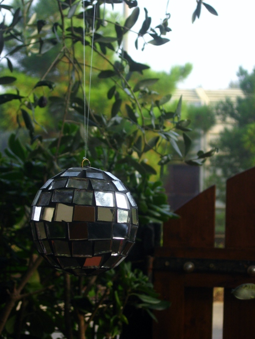 Disco ball: mom knows how to party