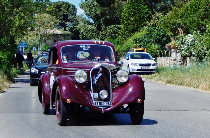 Mille miglia race in Tuscany