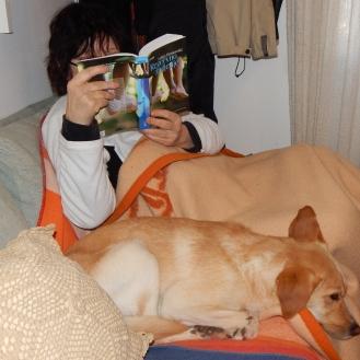 Mom reading Lidija Dimkovska