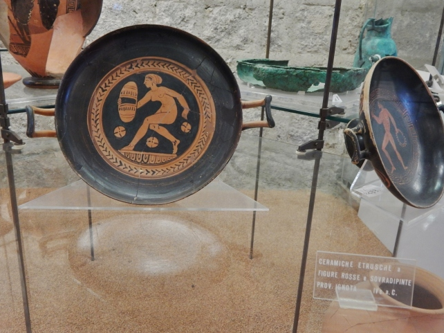 An Etruscan circle from Vulci museum.