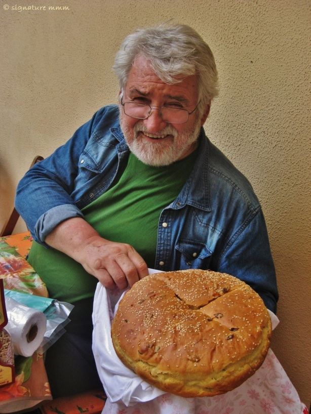 Father and his bread