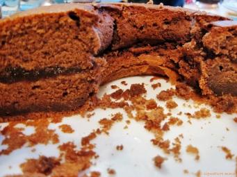 Improvised sacher cake