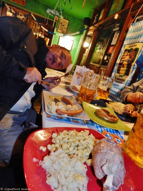 "And this was Oktoberfest in Tuscany. Pub ""Porta gialla"", Borgo Carige."
