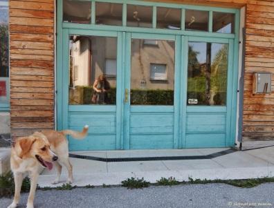 In Mengeš, Slovenia, door-hunting. August.